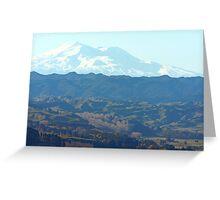""" Mount Ruapehu , New Zealand "" Greeting Card"