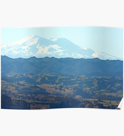 """ Mount Ruapehu , New Zealand "" Poster"