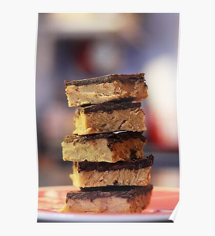 Chocolate peanut butter bars Poster