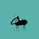 Happy sheepy on turquoise by CatchyLittleArt