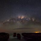 Milky way and aurora over Loch Ard gorge by Robyn Lakeman