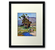TWO COWS NSW Framed Print
