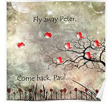 Fly away Peter, come back Paul. Poster