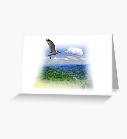Over The Mountain Greeting Card