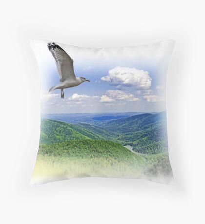Over The Mountain Throw Pillow