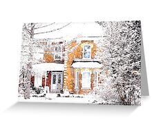 snowfall.. Greeting Card