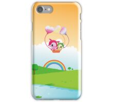 Cute Love Fox Couple & Rainbow Country Scene iPhone Case/Skin