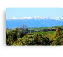 """""""The Western Ruahines, New Zealand"""" Canvas Print"""