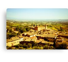 View over San Gimignano, Italy Canvas Print