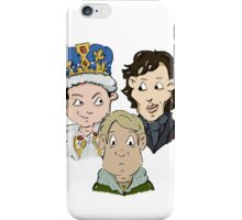 Sherlock Character Moriarty John Watson and Sherock Cartoon iPhone Case/Skin