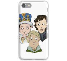 Sherlock Character Moriarty John Watson and Sherock Cartoon iPhone Case/Skin