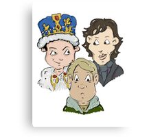 Sherlock Character Moriarty John Watson and Sherock Cartoon Metal Print