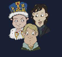 Sherlock Character Moriarty John Watson and Sherock Cartoon One Piece - Long Sleeve