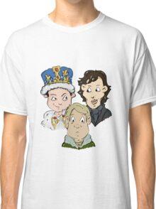 Sherlock Character Moriarty John Watson and Sherock Cartoon Classic T-Shirt