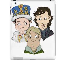 Sherlock Character Moriarty John Watson and Sherock Cartoon iPad Case/Skin