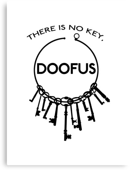 There is No Key, Doofus by gonnaflynow