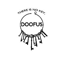 There is No Key, Doofus Photographic Print