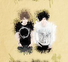 Dan & Phil- Grungy Style Paint by polkadotpotato