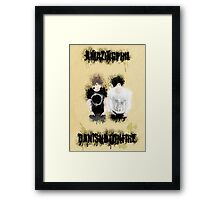 Dan & Phil- Grungy Style Paint Framed Print