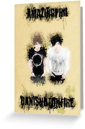 Dan & Phil- Grungy Style Paint by polkadotpotato