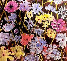 """Multi-color Flower Etching by Belinda """"BillyLee"""" NYE (Printmaker)"""