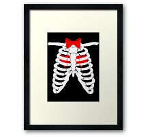 Doctor Who Hearts Framed Print