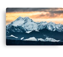 Sunset over The Brothers Canvas Print
