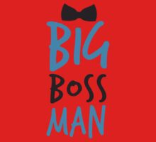 Big Boss Man with bow tie One Piece - Short Sleeve