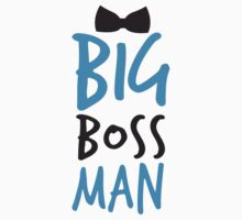 Big Boss Man with bow tie Kids Tee