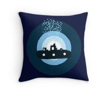 Blue Submarine Throw Pillow