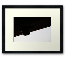 Fine golden lines Framed Print
