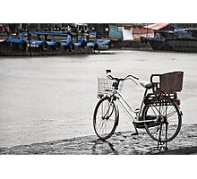 Hoi An bicycle in rain Photographic Print