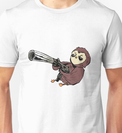 Gun Owl Unisex T-Shirt
