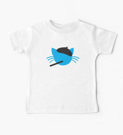 French cigarette smoking cat- Le CAT Baby Tee