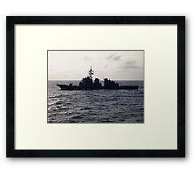 Japanese Battleship Framed Print