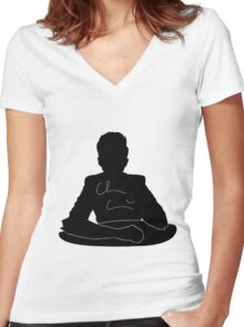 Chris Silhouette Women's Fitted V-Neck T-Shirt