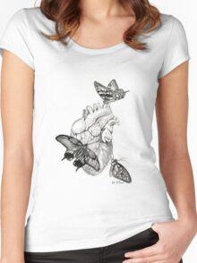 Heart Flutter Women's Fitted Scoop T-Shirt