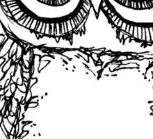 Serious Owl Sticker