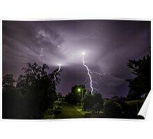 Lightning over suburbia  Poster