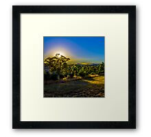 Sun rise golden clouds 02 Framed Print