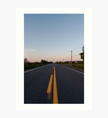 On the road (again) Art Print