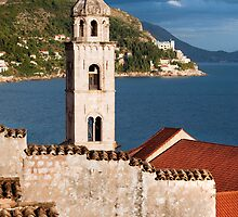Old Church Tower in Dubrovnik by Artur Bogacki