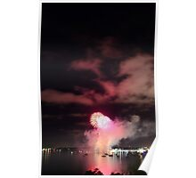 New Years Fireworks Geelong, Port Phillip Bay Poster