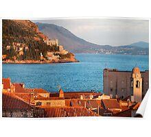 Dubrovnik at Sunset Poster