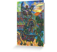 Abstract Meow Greeting Card