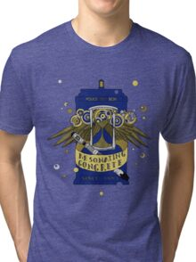 Resonating Concrete Since 1963 - Doctor Who Screwdriver & Tardis Tri-blend T-Shirt
