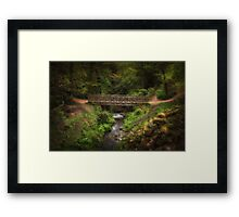Bridge in Roundhay Park (HDR) Framed Print