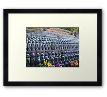 Statues with flowers 2 Framed Print