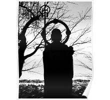 Buddhist Silhouette 2 Poster