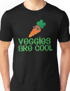Veggies are COOL! with a carrot Unisex T-Shirt